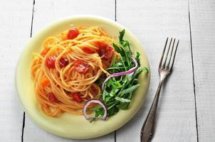macarrão espaguete marinara foto