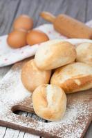 pães frescos foto