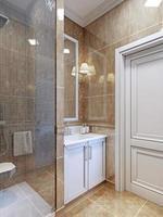 pequena tendência do banheiro foto