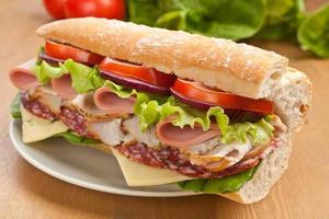 sanduíche de baguete de metrô