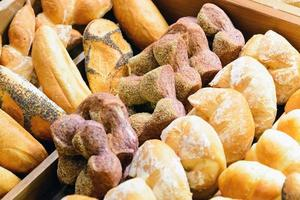 pão francês sortido foto