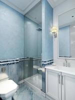 estilo art deco do banheiro foto