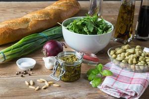 ingredientes bruschetta foto