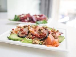 prato de salmão foto