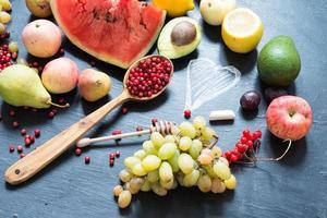 conceito de comida saudável - frutas foto