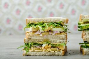 sanduíche vegetariano saudável