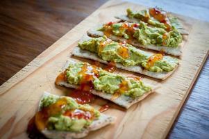 pão pita abacate foto