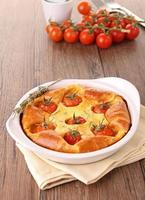 quiche de tomate cereja / clafouti foto