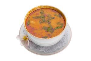 sopa tailandesa famosa thom inhame foto