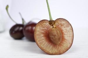 cerejas maduras. foto