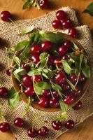 cerejas ácidas orgânicas saudáveis