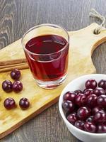 suco de cereja em um copo
