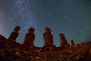 estátuas na ilha de pascua. Rapa nui. ilha da Páscoa foto