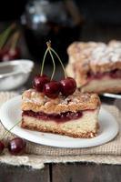 torta de cereja deliciosa e fresca