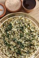 saag waali khichri é um vegetal do norte da Índia foto