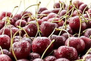 frutas frescas, cerejas foto
