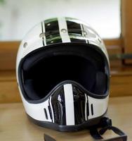 capacete de motocicleta foto