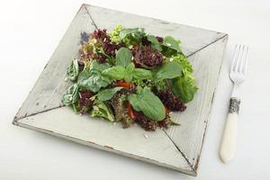 salada de legumes saudáveis foto