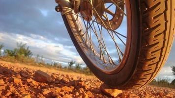 pneu de moto foto