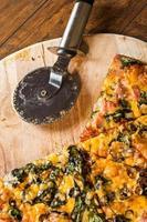 pizza caseira foto