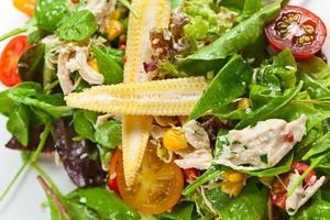 salada com frango foto