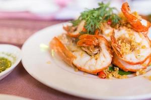camarão com alho