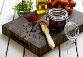 grelha de óleo para churrasco foto