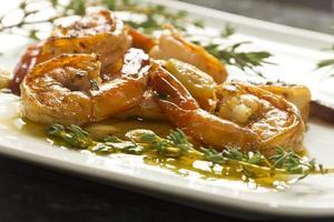 camarão alho português foto
