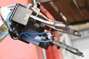 elemento de um robô industrial foto
