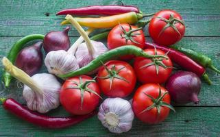legumes frescos do jardim foto