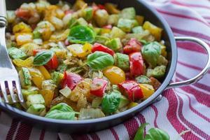 legumes cozidos a vapor foto