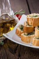 pão de alho fresco foto