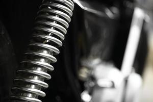 suspensão da motocicleta foto