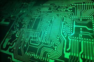 placa de circuito verde foto