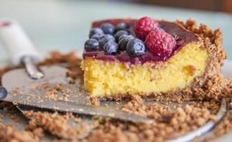cheesecake: última fatia