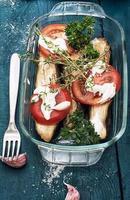 salada de pepino e tomate foto
