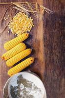 ingredientes de uma alimentação saudável de cima foto