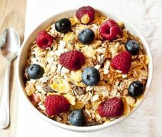 muesli com frutas foto