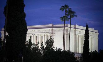templo mórmon de mesa arizona (lds) - tiro à noite foto