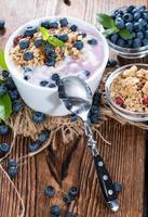 iogurte de mirtilo foto