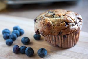 muffin de mirtilo selvagem foto
