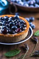 torta de mirtilo caseira foto
