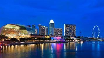 esplanada de cingapura foto