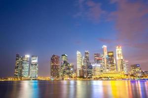 centro da cidade de cingapura foto
