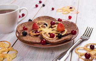 panquecas de café da manhã foto