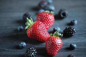 seleção de frutas de verão foto