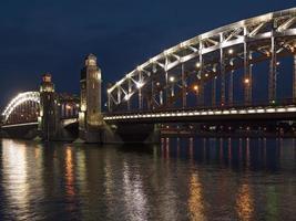 noite são petersburgo foto