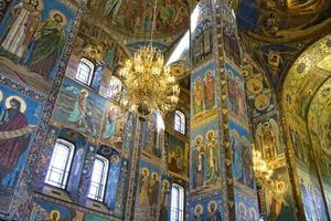 São Petersburgo dentro da igreja