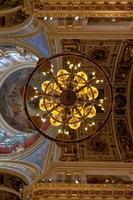 teto da catedral de saint isaac, st. petersburg, rússia foto