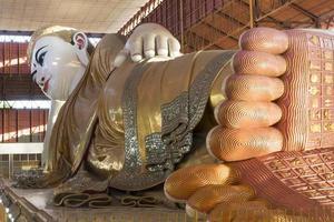Buda reclinado e chaukhtatgi paya foto